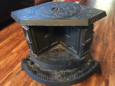 Antique Dietz No 2 Cast Iron Fireplace Parlor Kerosene Heater Stove