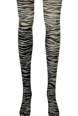 Zebra Stripe Tights Stockings Black White Adult Costume Accessory Jacobson Hat