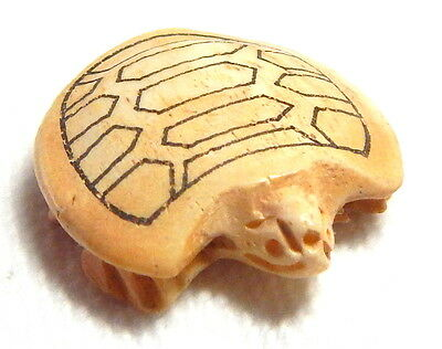 "Beautifully Well Carved Realistic Chinese Bovine Bone ""turtle"" Bead"