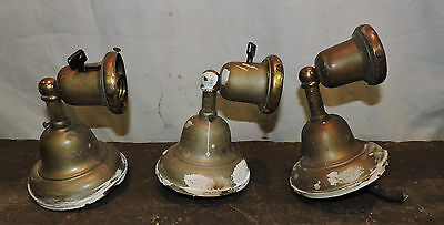 Lot Of 3 Antique Brass Wall Sconce Light Lamp Victorian Steampunk