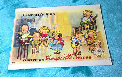 6 Campbell's Kids ~ Thrive On Campbell's Soup ~ Post Cards ~ 1989 ~ Sealed ~ New