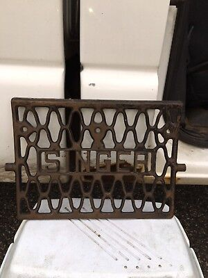 "1920's 13 3/4"" Singer Sewing Machine Cast Iron Foot Pedal"