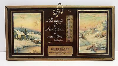 Vintage Funeral Home Advertising Thermometer Galatia Southern Illinois 1940s