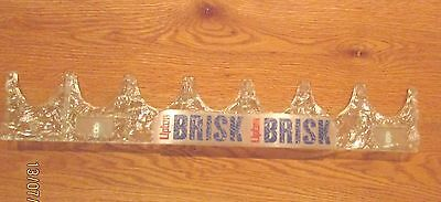 Lipton Brisk Tea Advertising Store Cooler Rack Raised 3-D Looking Design