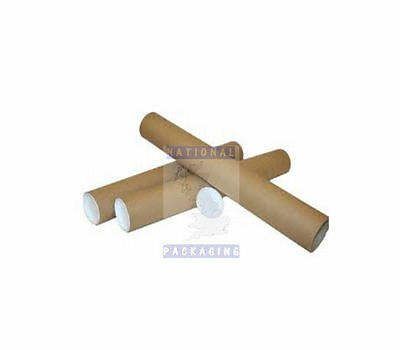 Cardboard Posting Mailing Tubes + Caps - All Sizes READ LISTING FOR DELIVERY