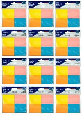 """Mini Sticky Notes Adhesive Back Memo Pads  2"""" X 1.5""""  Assorted Color 2400 Sheets"""