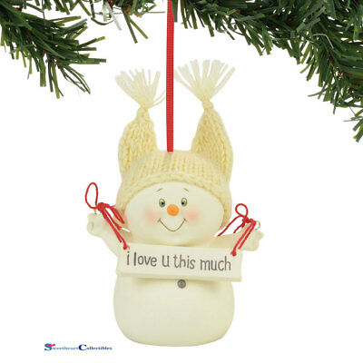 Dept 56 Snowpinions 4057416 I Love You This Much Ornament 2017