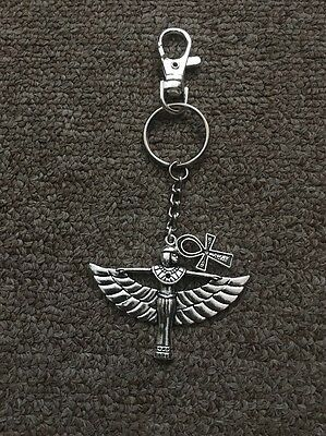 Ankh ( Breath Of Life ) & Isis ( Goddess Of Marriage) // Metal Key Chain