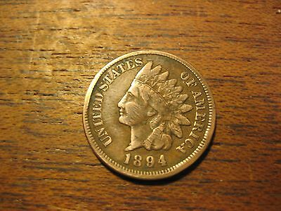 1894   Indian Head Penny Cent Better Bronze America  Coin Must See Full Liberty