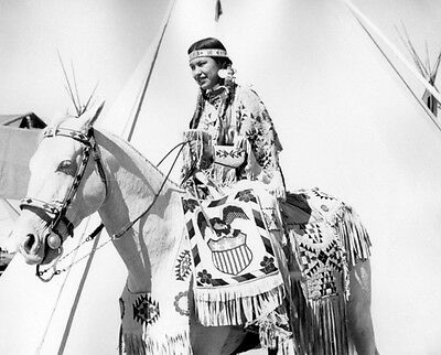 Yakima Indian Princess on Horseback 8x10 Photo Historical Reproduction 1953