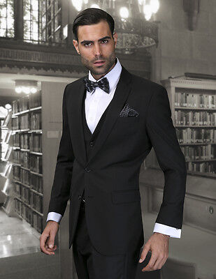 New Statement Italy 2 button 100% wool Slim fit super 150's men's 3PC suit