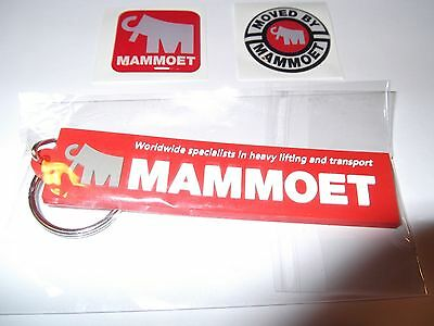 Rare Oilfield Mammoet Crane and keychains Iron Workers Mining Sticker