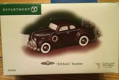 Department 56: Vintage Cars 1939 Buick Roadster snow village Retired in box