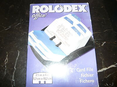 """boxed Rolodex Office 2.5"""" X 4"""" Card File Holder 250 Count"""