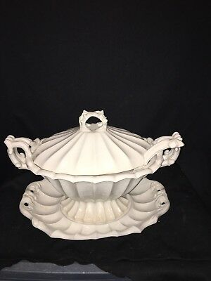 4pc Red Cliff Ironstone Soup Tureen
