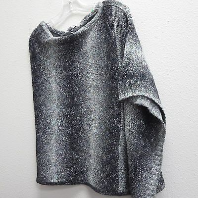 MOTHERHOOD MATERNITY Gray Shades Chunky Wool Pullover Poncho Cape Sweater - OS