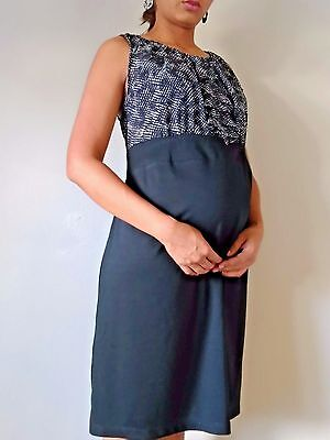 Women's Liz Lange Maternity Dress Black and White Wear To Work Size L