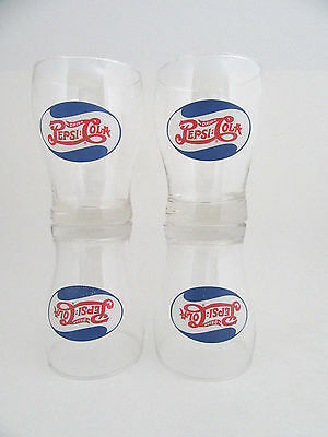 Drink Pepsi Cola Double Dot Drinking Glasses Set Of 4