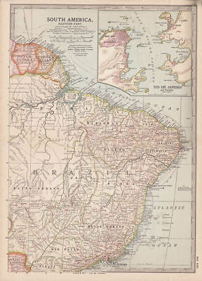 Map of South America, Eastern Part. Century Atlas. 1902.