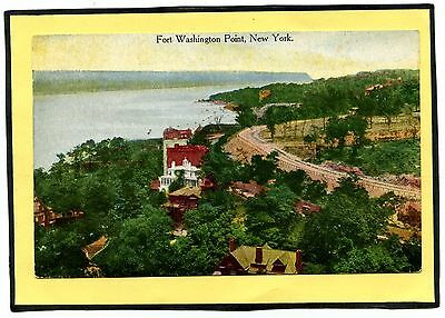 NY NYC New York -- Fort Washington Point -- Early Postcard -- Hudson RIver