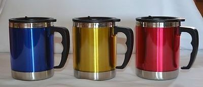 2 x Stainless Steel Insulated Coffee Water Travel Mug Flask with Handle Oz-mate