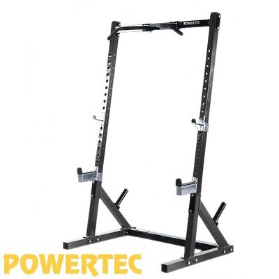 POWERTEC Half Rack WB-HR16 Power Cage Squat Stand Heavy Duty Chin Up
