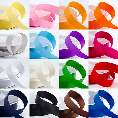 25Yards Satin Ribbon Wedding Party Decoration Craft Sewing Many Colors Pick J