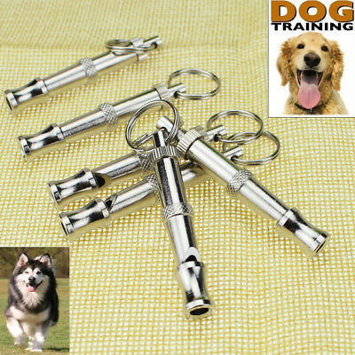 Stainless Steel Dog Puppy Pet Walking Recall Training Whistle 55mm*7mm