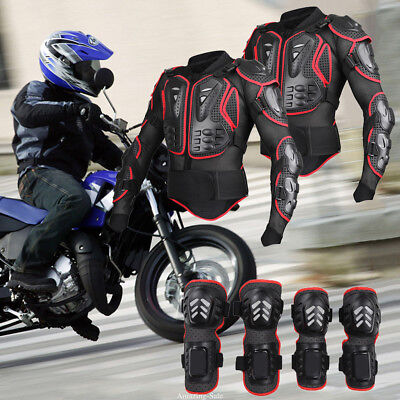 Motorcycle Body Jacket Suit Moto Racing Protective Armor Full Clothing Set HOT