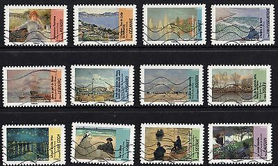 France 2013 Paintings Complete Set of Stamps P Used S/A