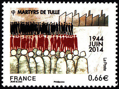 France 2014 Martyrs of Tulle Stamp MNH