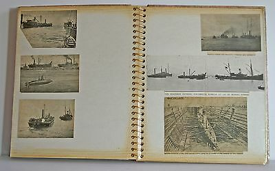 Naval interest scrapbook newspaper cuttings relating to WWI and earlier