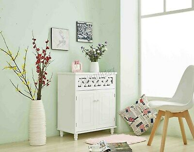 FoxHunter Storage Sideboard Cupboard Cabinet 2 Door Home Unit White MDF MSC01