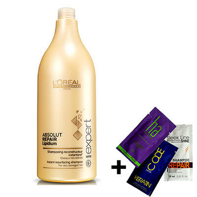 L'OREAL SERIE EXPERT Absolut Repair Lipidium SHAMPOO 1500ml + GIFT