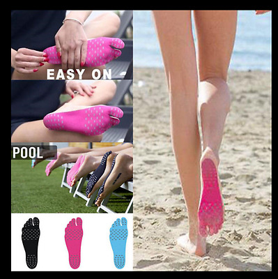 2017 NAKEFIT Sticker Shoes Stick on Soles Sticky Pads for Feet Pink/Blue/Black