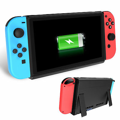 Silicone Cap +6500mAh Battery Case External Charge Power Bank Fr Nintendo Switch