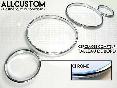 CHROME GAUGE RINGS CLUSTER METAL DASHBOARD DASH for BMW E30 3 SERIES 1982-1991