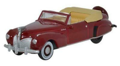 Bnib Ho Gauge Oxford 1:87 87Lc41001 Lincoln Continental 1941 Maroon Car