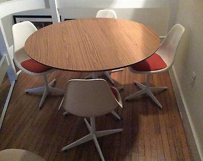 Vintage 1960s Burke Dining Set Table 4 Chairs