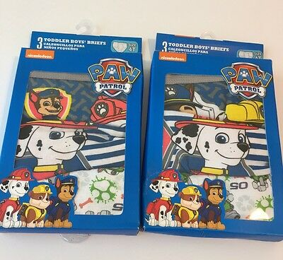 New In Box Toddler Boys PAW PATROL Underwear Briefs - Size 4T - 2 Boxes