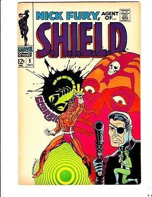 Nick Fury, Agent of Shield 5 (1968): FREE to combine- in Very Good/Fine