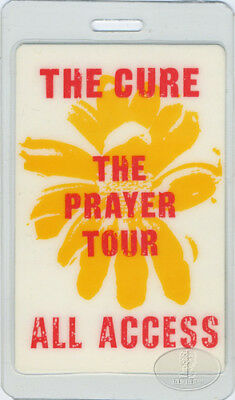 The Cure Prayer Tour 1989 Laminated Backstage Pass