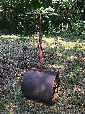 "Victorian 22"" Cast Iron Garden Roller With Counterbalance."