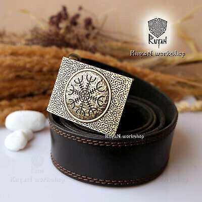 Aegishjalmur Vikings buckle belt Viking Jewelry Helm of Awe Norse Helm of terror