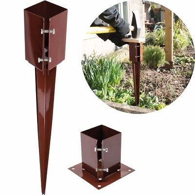 """4""""/100mm FENCE POST SPIKE & SHOE Drive/Bolt Down Repair Stake Garden Wall Holder"""