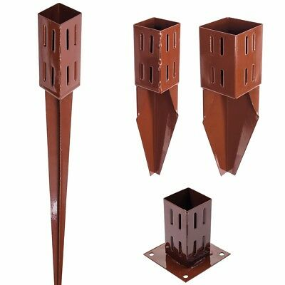 """3""""/4"""" STEEL EASY GRIP FENCE POST SPIKES & SHOES Drive/Bolt Down Holders/Stakes"""