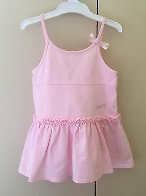 ESPRIT baby girl's pink strappy cotton dress. Size 12mths