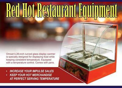 Omcan 21479 Countertop Curved Glass Hot Food Warmer Display Case DW-CN-0660