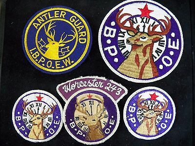 Lot of 5 Benevolent and Protective Order of Elks Patches - Worcester 243