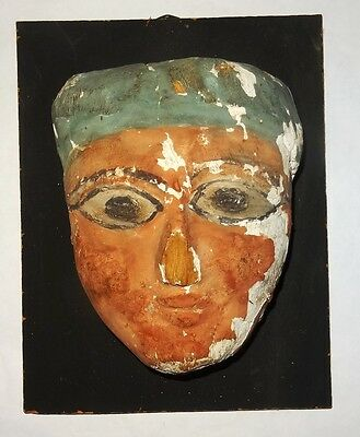 Ancient Egyptian Mummy Mask   332 Bc - 30 Bc  Masque De Sarcophage Egyptien